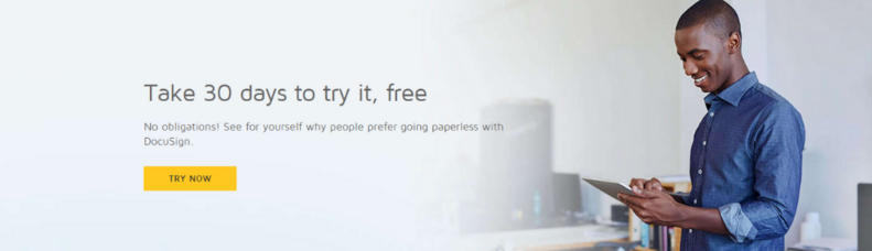 Try DocuSign for 30 Days - FREE!