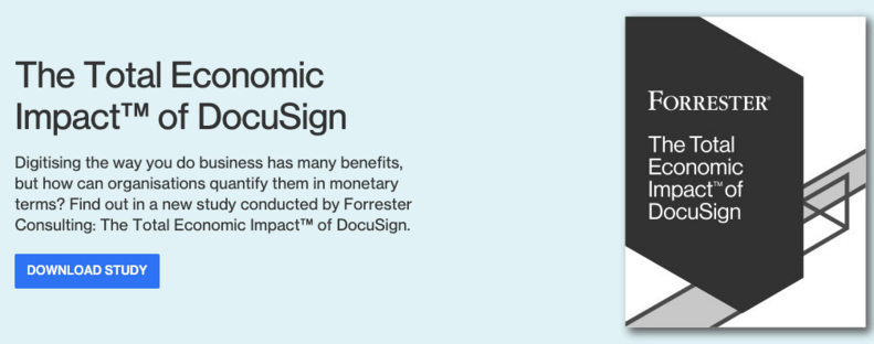 DocuSign Forrester study