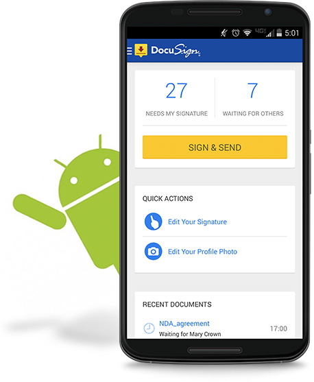 DocuSign Mobile App for Android phones