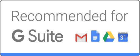 DocuSign is recommended for all of G Suite, including Google Docs, Google Drive, Gmail, and Google Calendar.