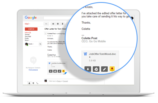 DocuSign right from Gmail