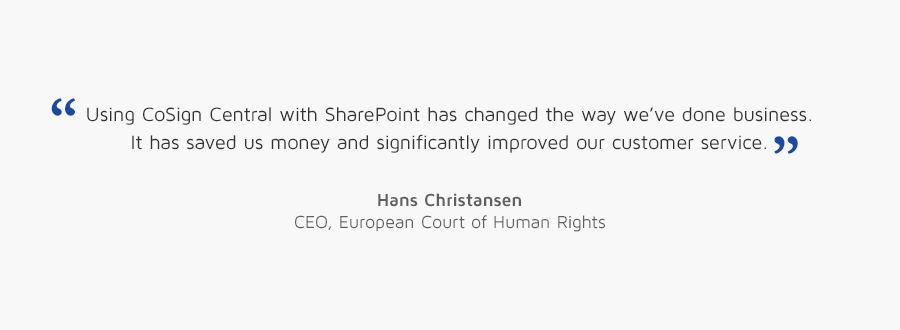 Hans Christansen, CEO, European Court of Human Rights quote