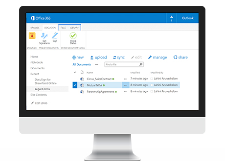 DocuSign for SharePoint Online