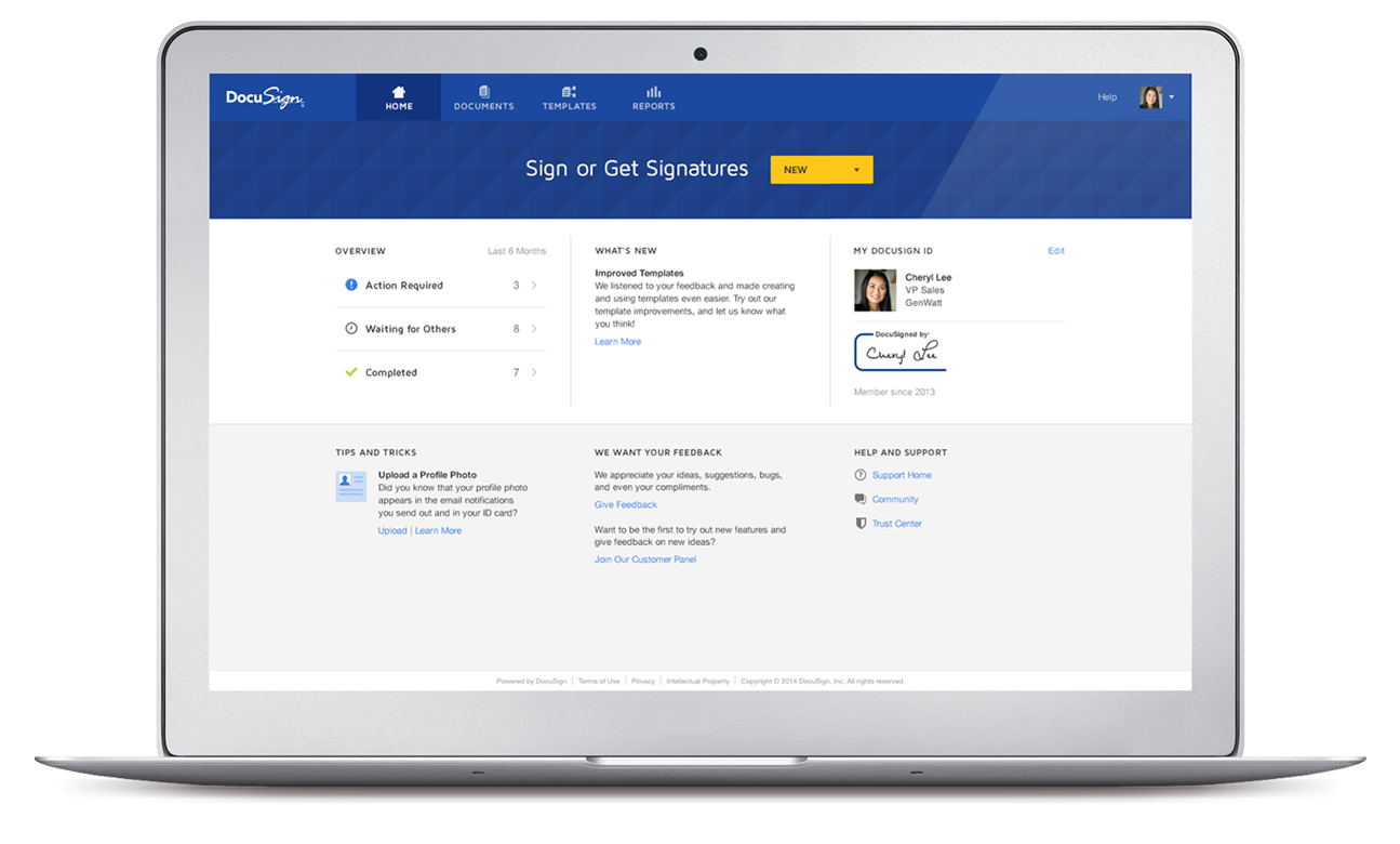 New DocuSign Experience makes esigning easy!]