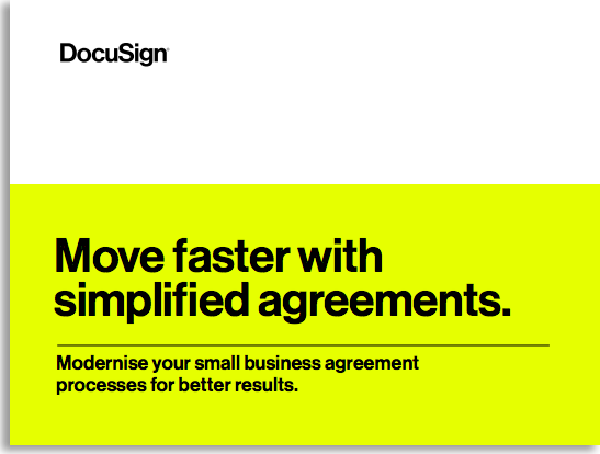 move faster with simplified agreements report cover