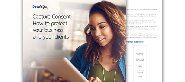 The front and back cover of the Capture Consent whitepaper.